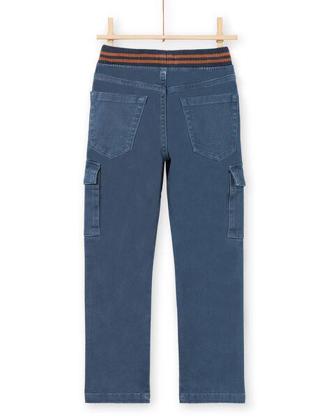Boy's blue pants with pockets MOJOPAMAT3 / 21W90221PANC202
