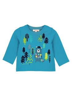 Dark Turquoise T-shirt GUTUTEE1 / 19WG10Q2TMLC217