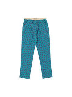 Girls' printed loose trousers FACAPANT / 19S901D1PAN099