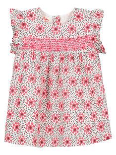 Baby girls' smocked dress FICAROB5 / 19SG09D5ROB000