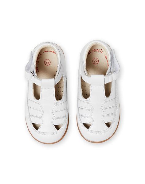 Baby boy white pumps LBGSALSANDB / 21KK3833D13000
