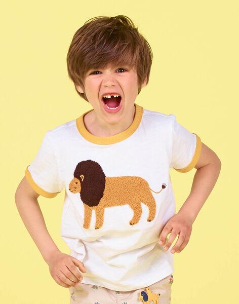 White and orange T-shirt - Child boy LOJAUTI / 21S902O1TMC000