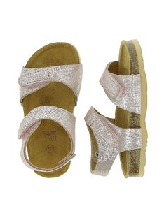 Baby girls' leather sandals CBFNUPINK / 18SK37W8D0E030