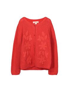 Girls' knit cardigan FABACAR2 / 19S90162CAR409
