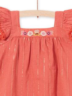 Baby girl brown dress LITERROB1 / 21SG09V3ROBF519