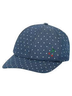 Girls' fancy polka dot cap FYACOCAP / 19SI0181CHAK005