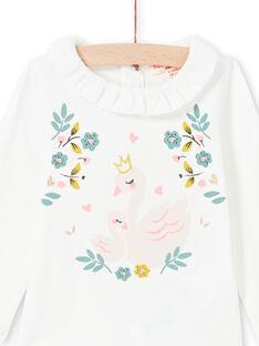 Baby girl's ecru bodysuit MIKABOD / 21WG09I1BOD001