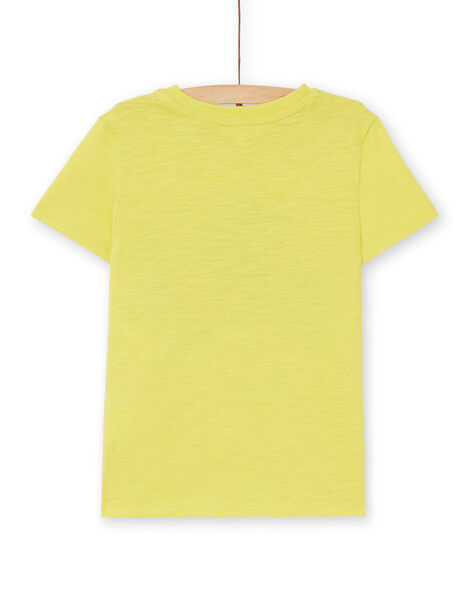 Yellow cotton t-shirt boy child LOJOTI5 / 21S90234TMCB102