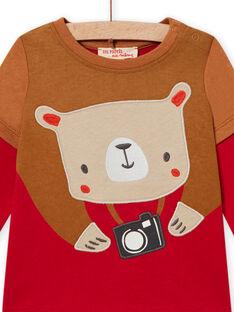 Baby Boy Red Embroidered T-shirt MUFUNTEE1 / 21WG10M2TMLF512
