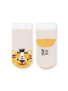 Baby boy white and yellow striped socks LYUBALCHO / 21SI10O1SOQ000
