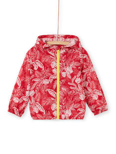 Red and white hooded jacket boy boy boy LOGROKA / 21S902R2BLO330