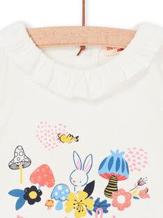 T-shirt ecru baby girl LIHABRA / 21SG09X1BRA001