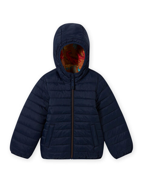 Boy's reversible quilted hooded jacket MOGROBLOU1 / 21W90254BLO804