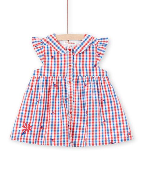 Baby girl plaid shirt dress LICANROB3 / 21SG09M3ROB001