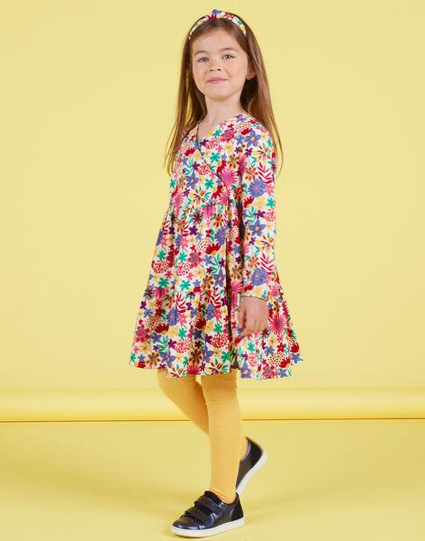 Girl's colorful floral print long sleeve dress MAMIXROB2 / 21W901J3ROB009