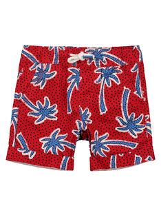 Boys' palm tree shorts FOTOBER1 / 19S902L1BERF505
