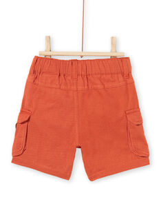 Baby boy brown shorts with leopard patch LUTERBER2 / 21SG10V2BERF519