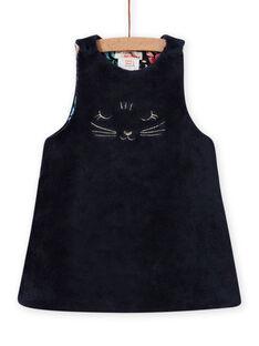 Baby girl reversible sleeveless dress with floral print MIPLAROB3 / 21WG09O1ROBC202