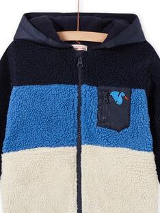 Boy's tricolored faux fur hoodie MOPLAGIL / 21W902O1GIL705