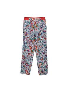 Girls' printed loose trousers FATOPANT / 19S901L1PAN099