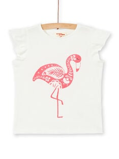 Ecru and pink T-shirt LAJOTI3 / 21S90132D31001