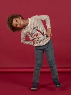 Grey jeans with fleece lining child boy MOFUNJEAN / 21W902M1JEAK004