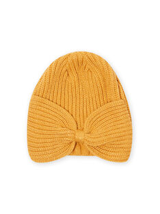 Girl's knotted mustard hat MYAMIXBON2 / 21WI0154BONB106