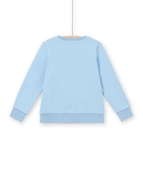 Violet blue SWEAT SHIRT LABLESWEA / 21S901J1SWE221