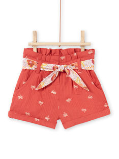 Baby girl brown shorts LITERSHO / 21SG09V2SHOF519