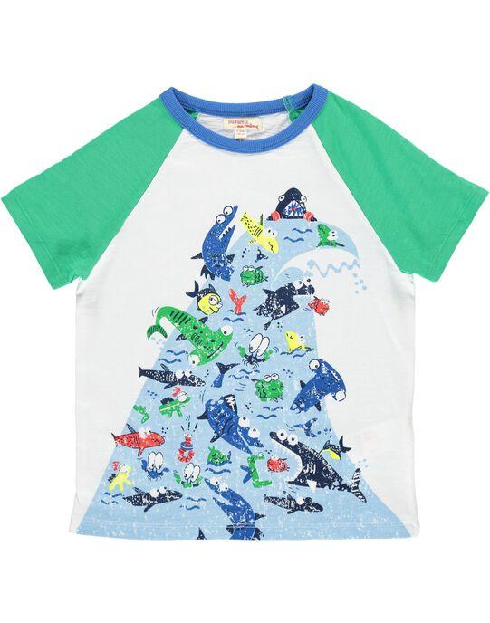 Boys' short-sleeved T-shirt COMATI1 / 18S902U1TMC000