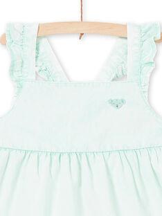 Girl's mint dress LAVEROB5 / 21S901Q5ROBG621