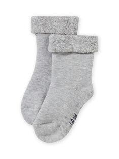 Baby girl's plain grey socks MYIESSOQB4 / 21WI09E9SOQJ920