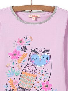 Baby girl lavender owl t-shirt MAPLATEE1 / 21W901O3TML326