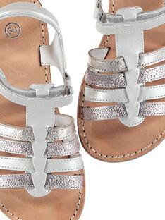 Girls? smart leather multi-strap sandals FFSANDMIN1 / 19SK35C1D0E000