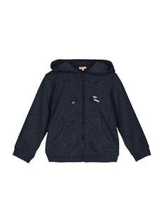 Girls' zipped hoodie FAJOHOJOG2 / 19S901Y2D33222
