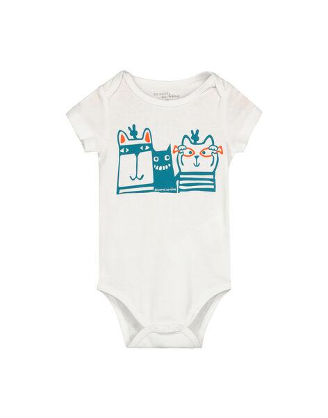 Baby boys' short-sleeved bodysuit FEGABODMUL / 19SH14I4BDL000