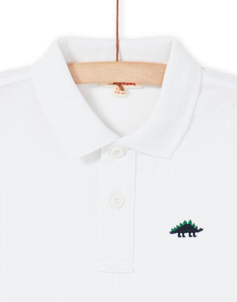 White polo shirt - Child boy LOJOPOL4 / 21S90244POL000