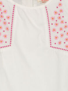 Girls' embroidered smock FAROCHEM / 19S901S1CHE001