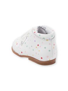 Baby girl polka dot booties LBFBOTISER / 21KK3731D0F000