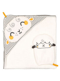 Unisex babies' hooded towel and glove GOU1POIN / 19WF4211POI000