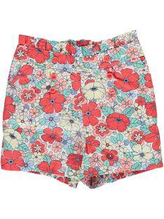 Baby girls' flowery shorts CIBUSHO / 18SG09K1SHO099