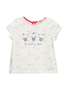 Baby girls' short-sleeved T-shirt FICOTI / 19SG0981TMC000