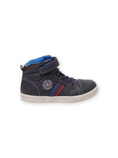 Child boy navy blue sporty sneakers MOBASGI / 21XK3672D3F070