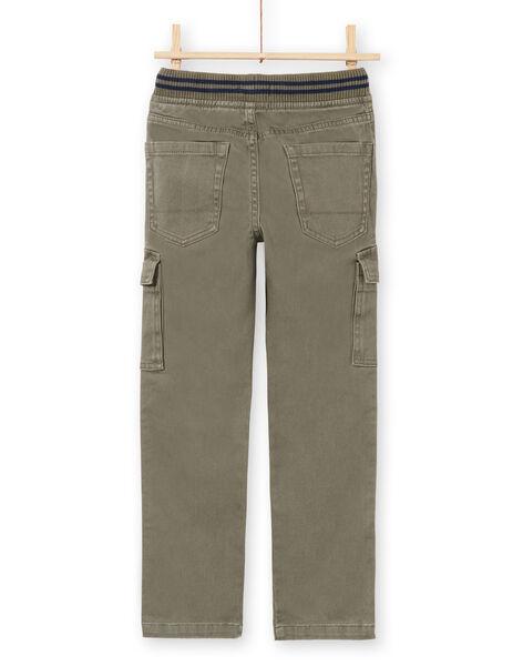 Boy's khaki pants MOJOPAMAT2 / 21W90224PANG631