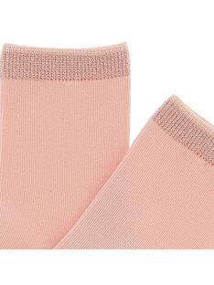 Girls' mid length socks CYAJOCHO4B / 18SI01RASOQ321