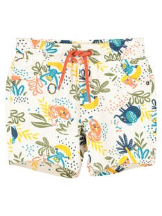Baby boys' tropical shorts FUTUBER1 / 19SG10F1BER099