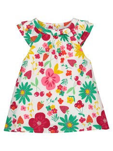 Baby girls' poplin dress FIYEROB2 / 19SG09M2ROB000