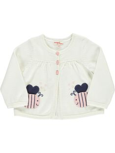 Baby girls' cotton knit cardigan CIDECAR2 / 18SG09F2CAR001