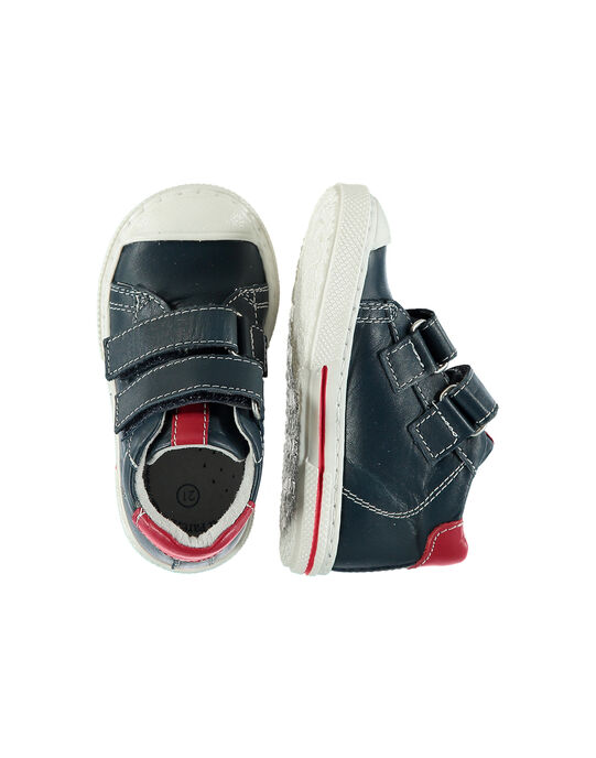 Baby boys' smart leather trainers. FBGBASON / 19SK3831D3F070