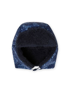 Baby boy's night blue space print chapka MYUPLACHA / 21WI1064BONC243